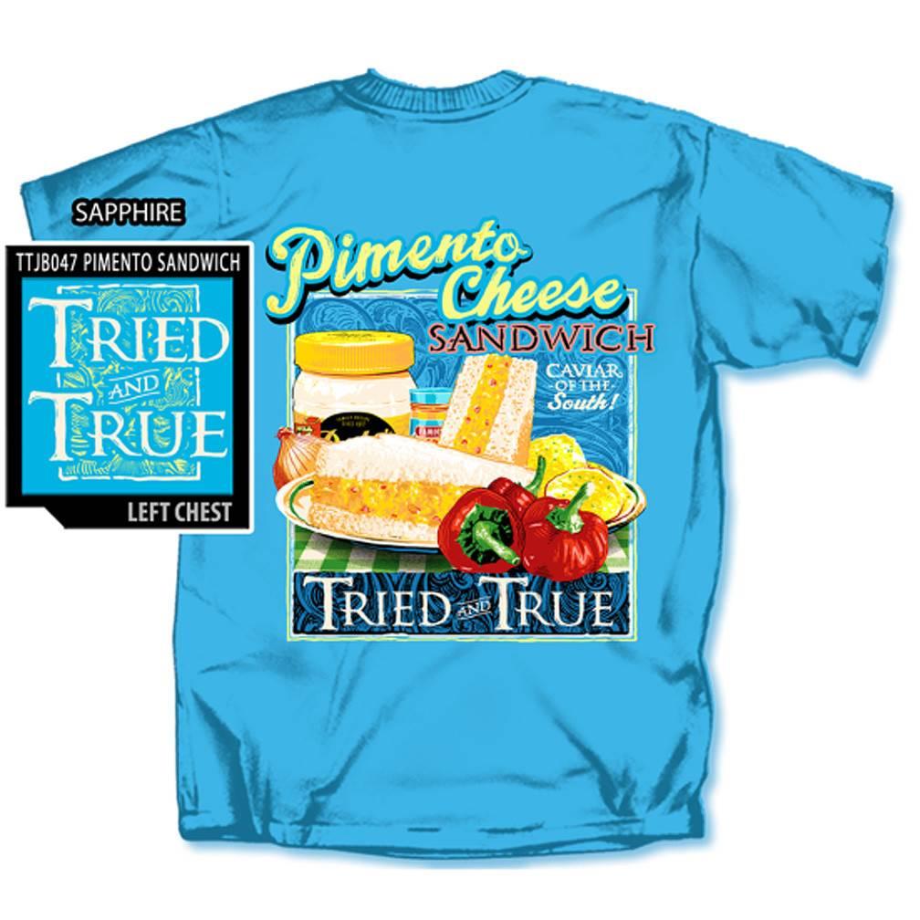 Pimento Cheese Sandwich T-shirt, Sapphire