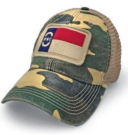 S.L. Revival Co. North Carolina Flag Trucker Hat, Camo