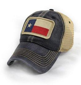 S.L. Revival Co. Texas State Flag Trucker Hat, Black
