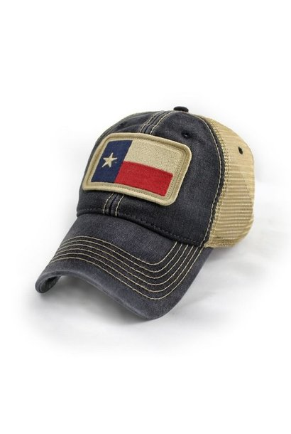 Texas State Flag Trucker Hat, Black