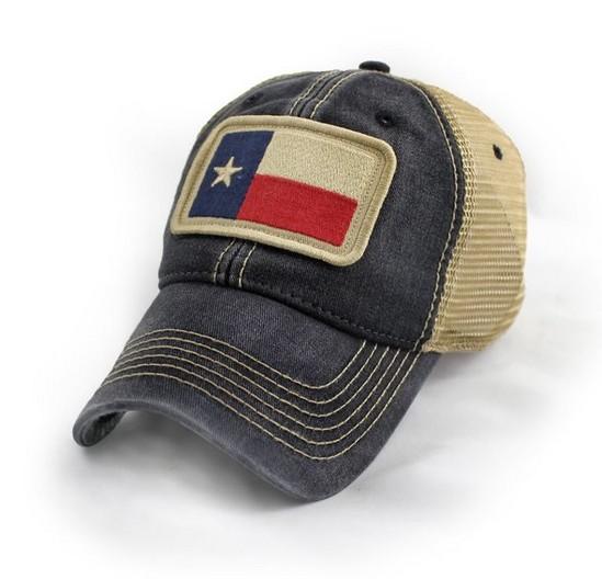 Texas State Flag Trucker Hat, Black-3