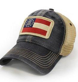 S.L. Revival Co. Georgia State Flag Trucker Hat, Black