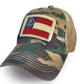 S.L. Revival Co. Georgia State Flag Trucker Hat, Camo