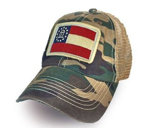 S L  Revival Co  Georgia State Flag Trucker Hat, Camo