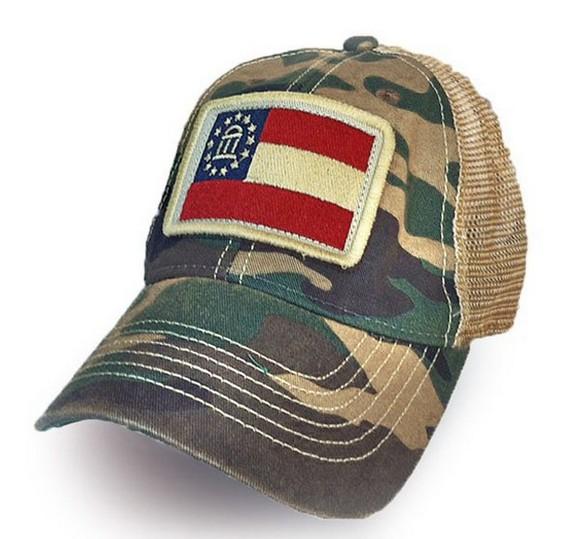 S.L. Revival Co. Georgia State Flag Trucker Hat, Camo