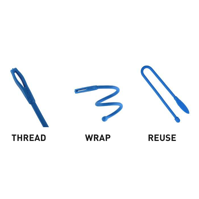 Nite Ize Gear Tie Cordable Twist 3 Inch, 4-Pack Assorted