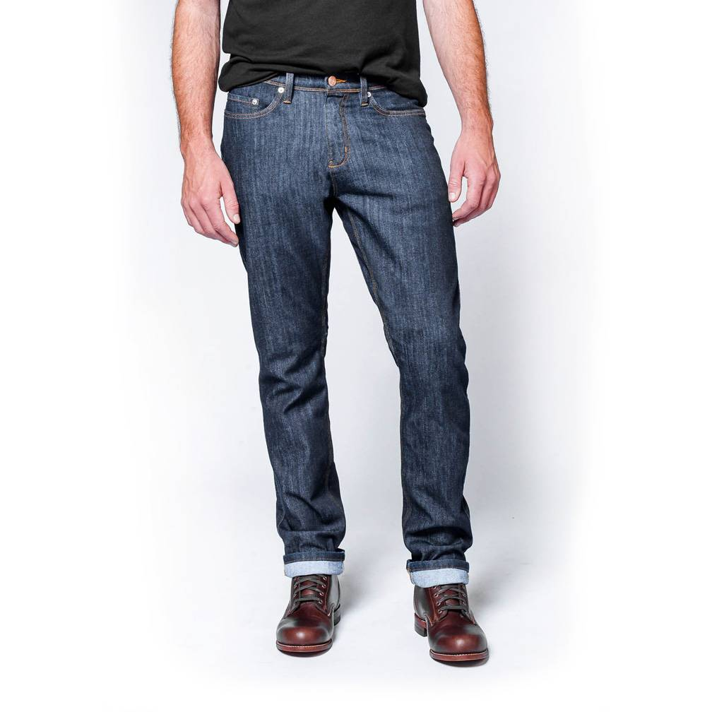Dish and Duer Men's Performance Denim Relaxed, Heritage Rinse