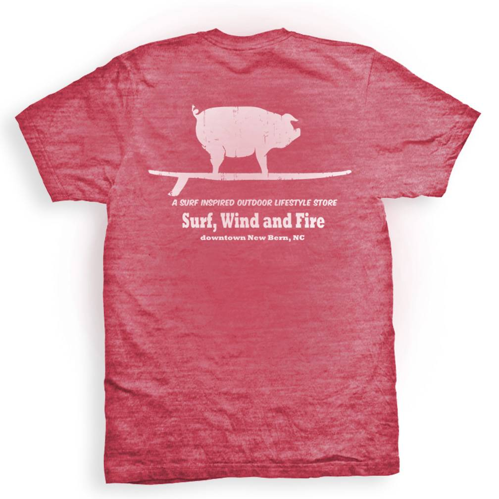 Surf, Wind and Fire Surfing Pig Short Sleeve Tee