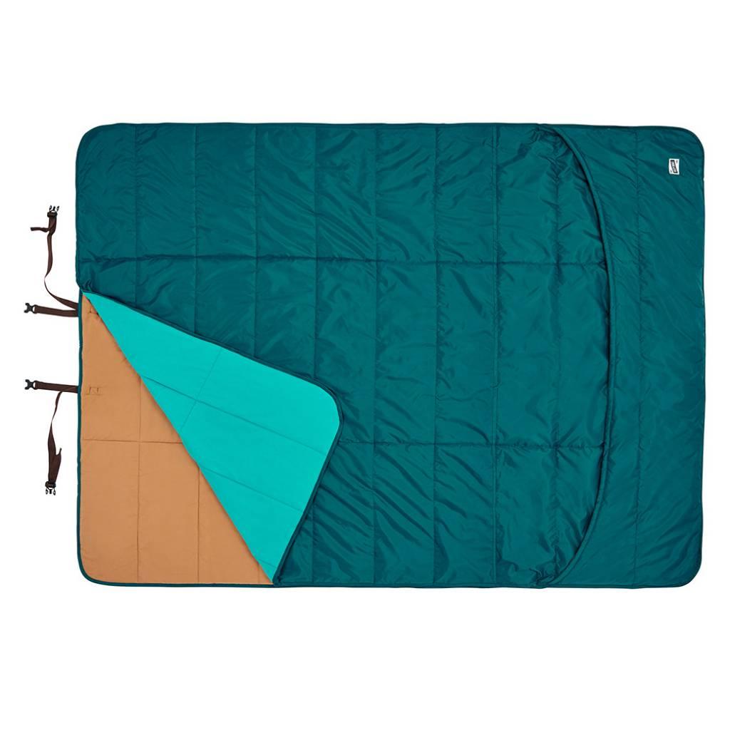 Kelty Shindig Blanket, Deep Teal/Canyon Brown/Latigo Bay