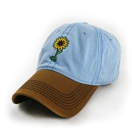 S.L. Revival Co. Sunflowers Make Me Smile Hat, Sky Blue