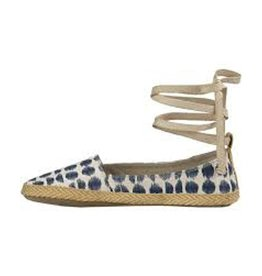 Sanuk Espie Slip On, LX Natural/Navy Ikat Dot