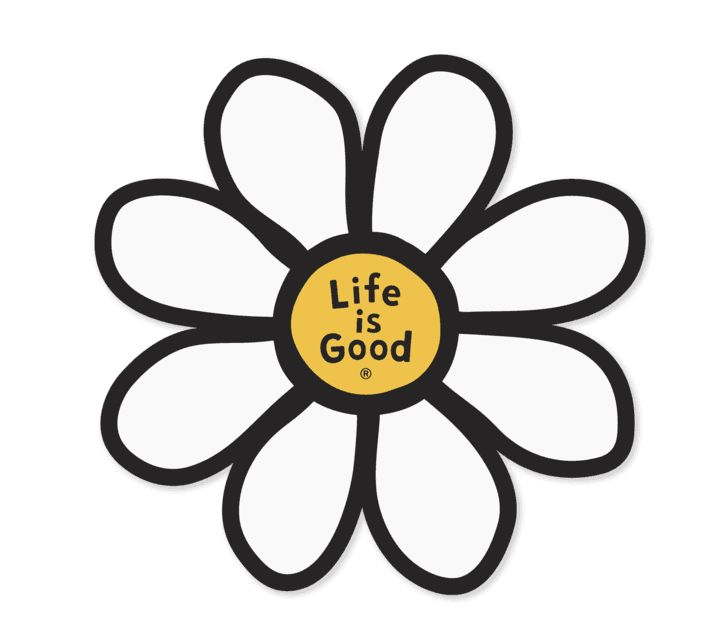 Life is Good U Die Cut Sticker Daisy LIG, Misc.