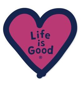 Life is Good U Die Cut Sticker Heart LIG, MIsc.