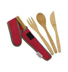 ChicoBag To Go Ware Utensil Set, Red