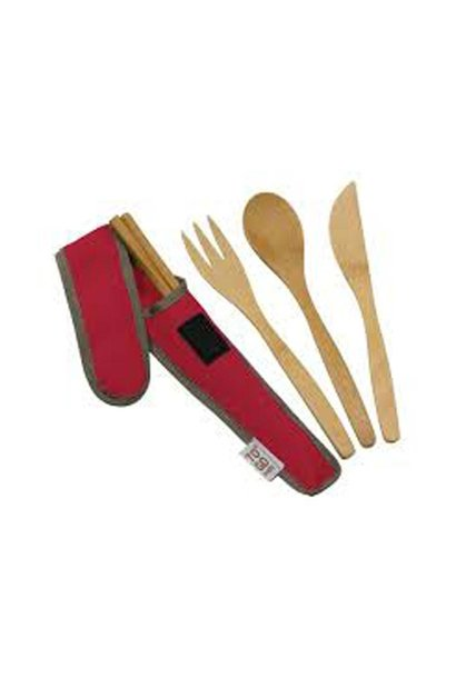 To Go Ware Utensil Set, Red