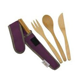 ChicoBag To Go Ware, Utensil Set, Purple
