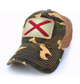 S.L. Revival Co. Alabama Flag Trucker Hat, Camo