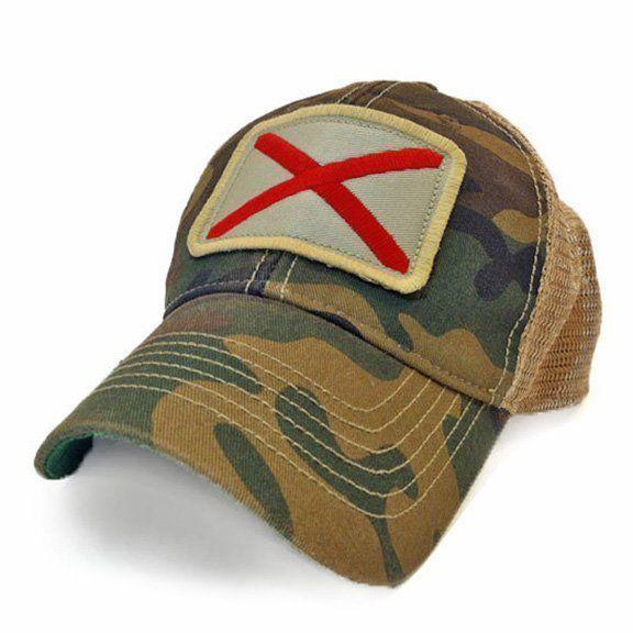 S.L. Revival Co. Alabama Flag Trucker Hat, Camouflage