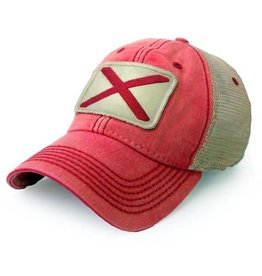 S.L. Revival Co. Alabama Flag Trucker Hat, Nautical Red