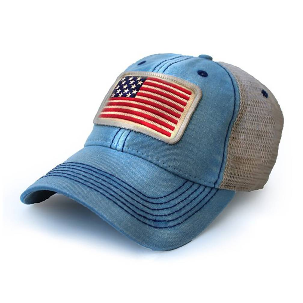 bb51485a6a7 S.L. Revival Co. USA 1812 Flag Trucker Hat - Surf Wind and Fire