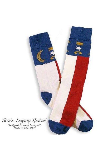 North Carolina State Flag Socks