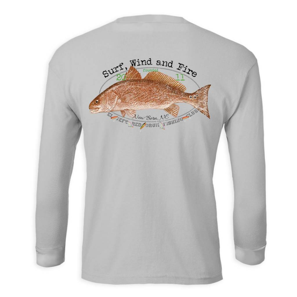 Surf, Wind and Fire El Jefe Red Fish Club, L/S, UPF 50, Gray