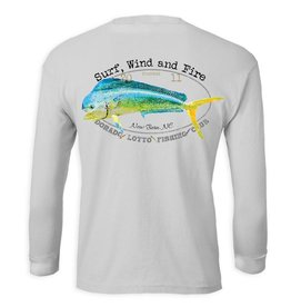 S.L. Revival Co. Dorado Lotto Mahi Fish Club, L/S, UPF 50, Gray