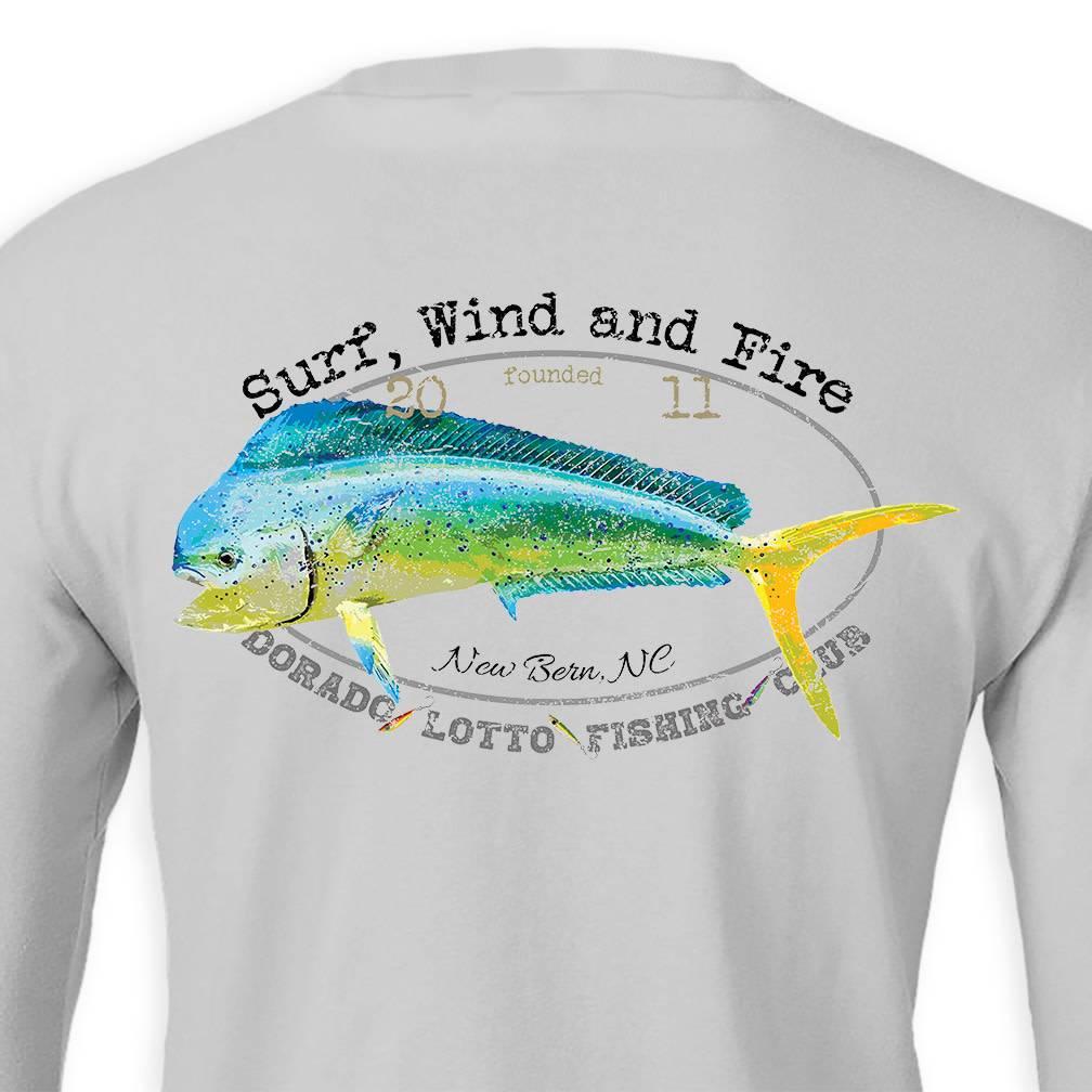 S.L. Revival Co. Dorado Lotto Mahi Fish Club, L/S, UPF 50, Gray
