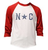 S.L. Revival Co. NC Star Baseball Tee, Red