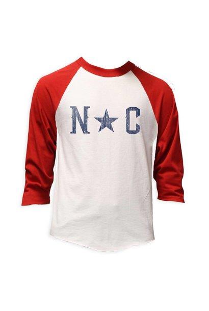 NC Star Baseball Tee, Red