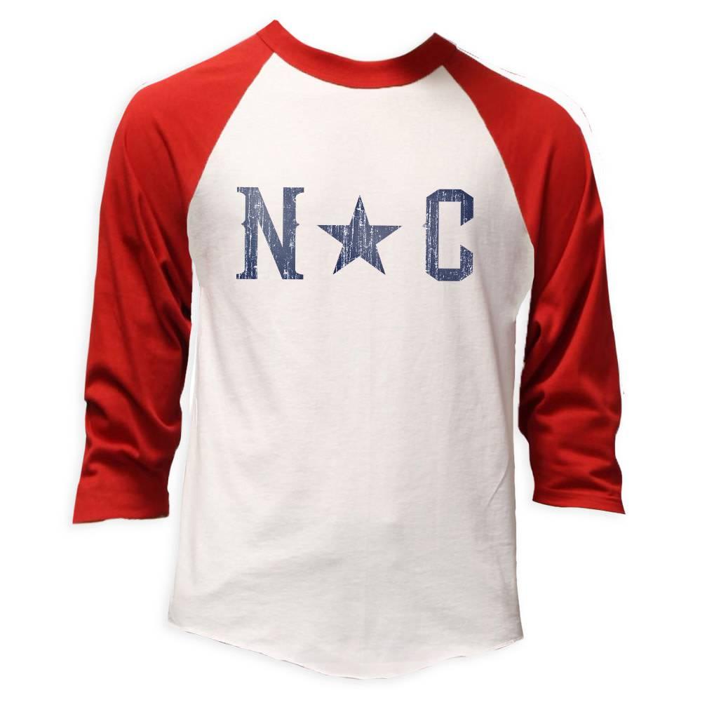 NC Star Baseball Tee, Red-1