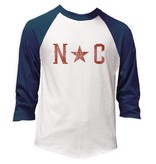 S.L. Revival Co. NC Star Baseball Tee, Navy