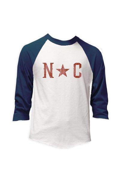 NC Star Baseball Tee, Navy