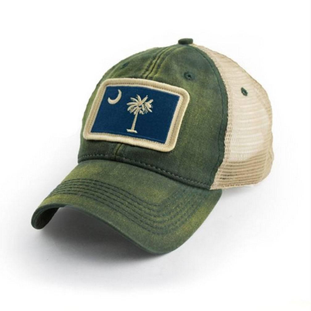 S.L. Revival Co. SC Flag Trucker Hat, Green