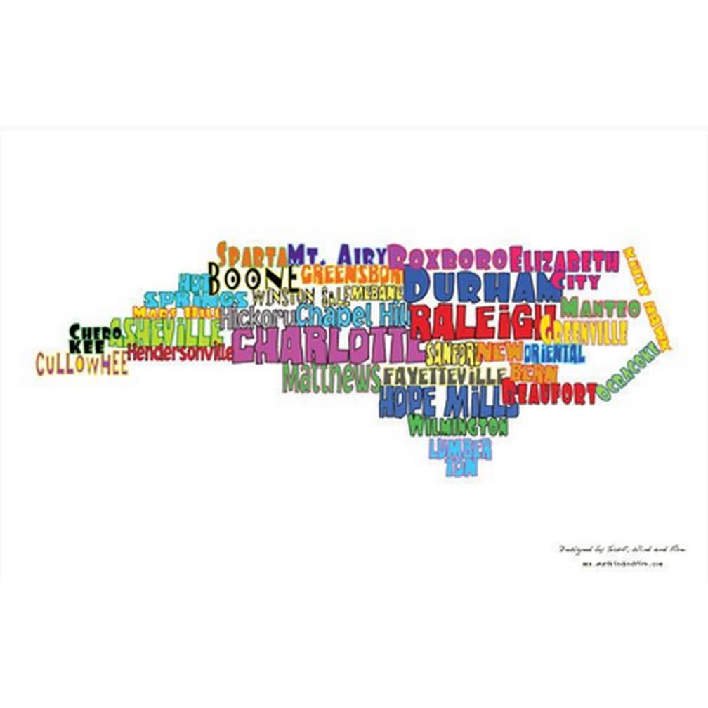 North Carolina Towns Postcard-1