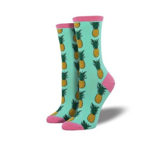 Pineapple Socks, Wintergreen-1