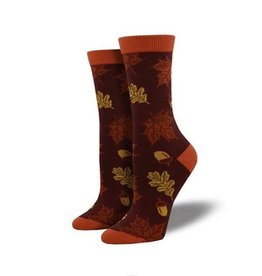Socksmith Bamboo Autumn Leaves Socks, Auburn
