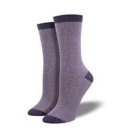 Socksmith Women's Bamboo Herringbone, Purple