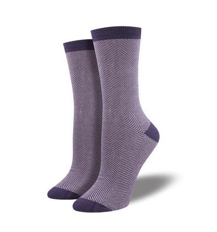 Socksmith Women's Bamboo Herringbone, Purple