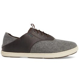 Olukai Men's Nohea Moku Hulu Wool, Dark Roast/Charcoal