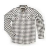Howler Brothers Firstlight Tech Shirt - Holden Plaid Tonal Grey