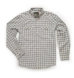 Howler Brothers Firstlight Tech Shirt - Holden Plaid Tonal Grey
