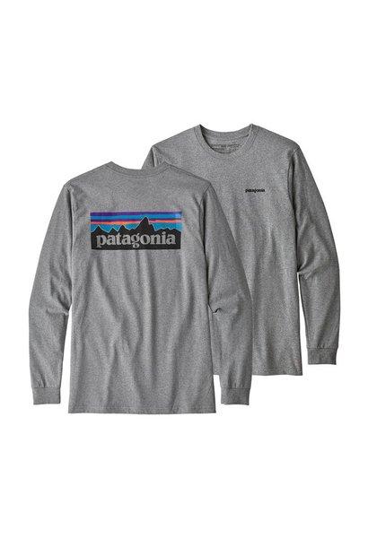 Patagonia Long Sleeve P-6 Logo Responsibili-Tee, Gravel Heather