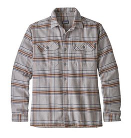 Patagonia Men's Fjord Flannel Shirt, Activist: Feather Grey