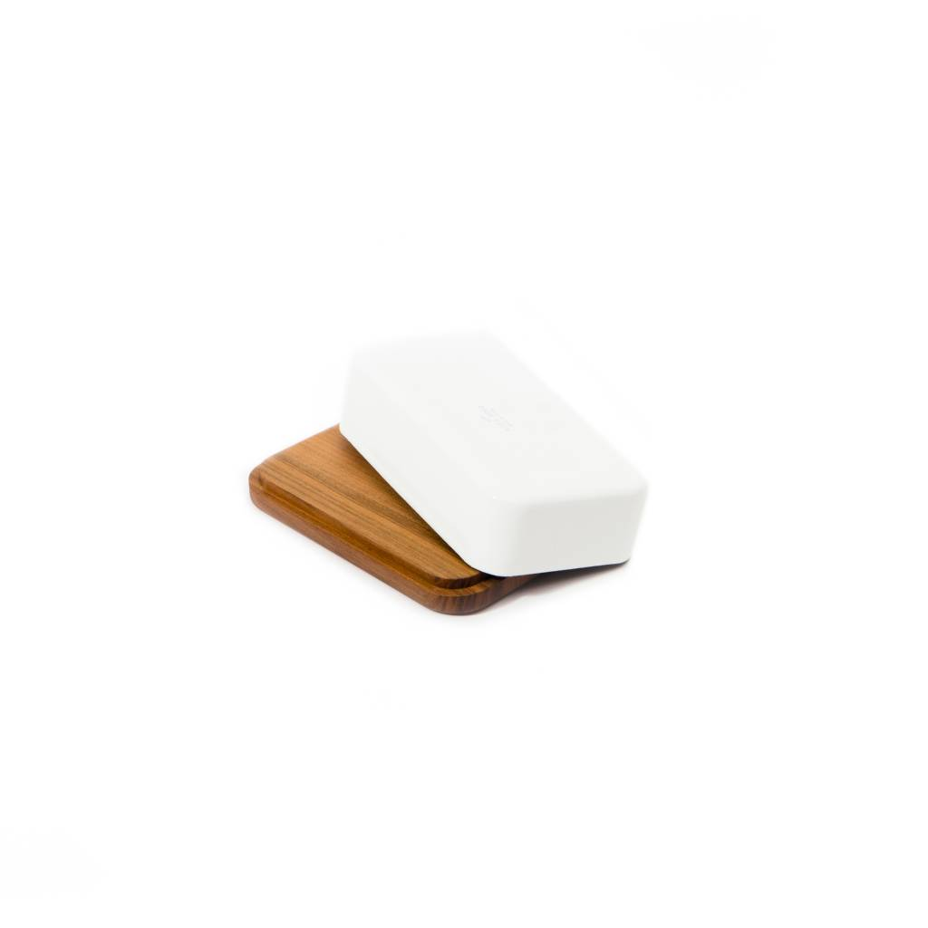 Saikai Enamel Butter Case with Wood Base by Noda Horo
