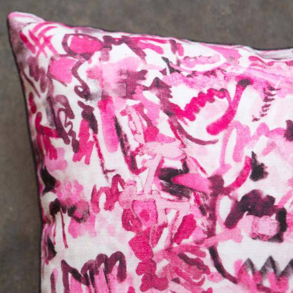 """electra eggleston Berlin Wedding 22"""" Pillow with Black Twill Piping"""