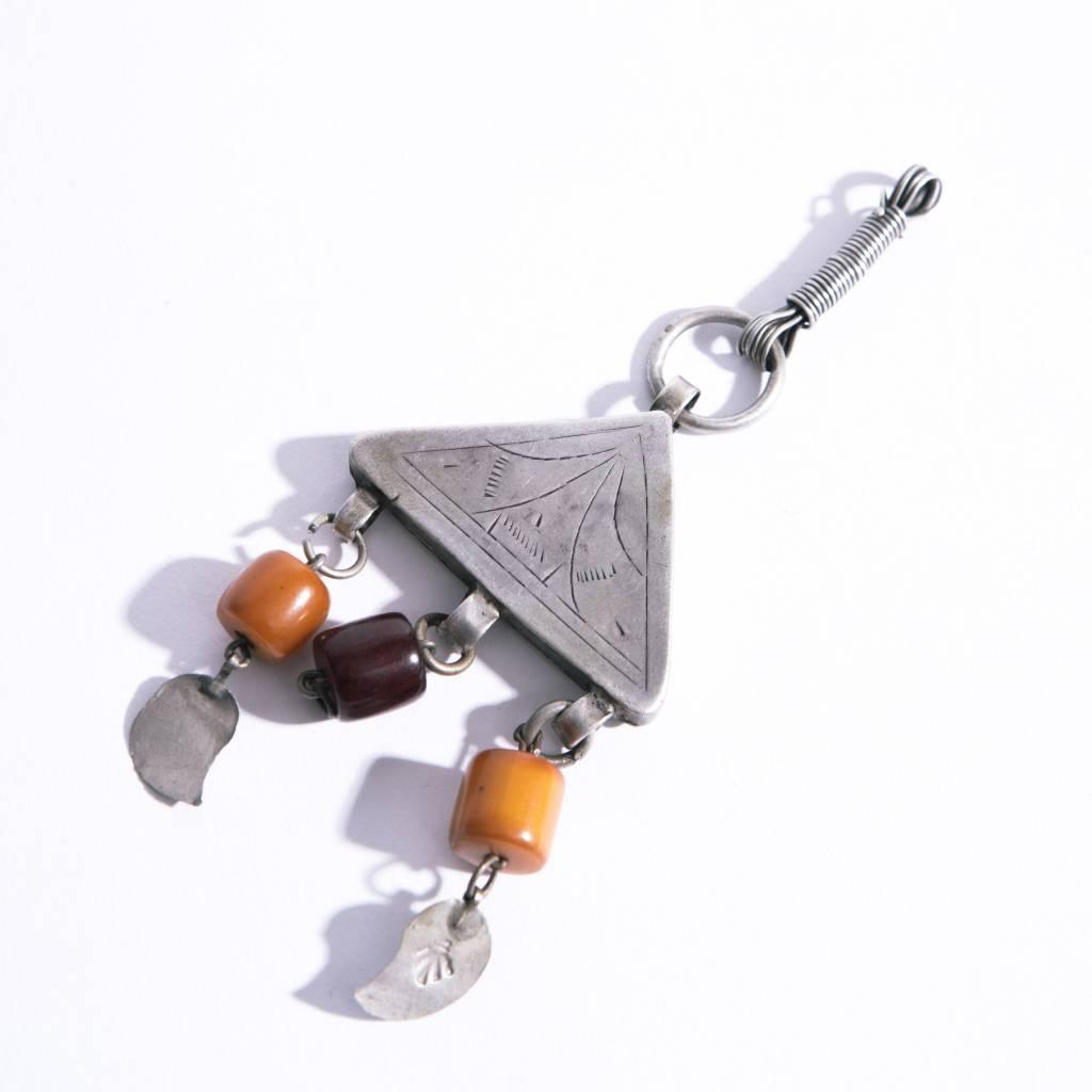 Vintage Ethiopian Silver Pendant - N