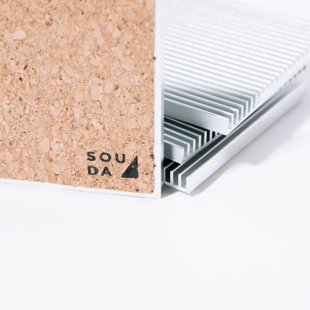 Souda Fin Coasters, Silver, Set of 4