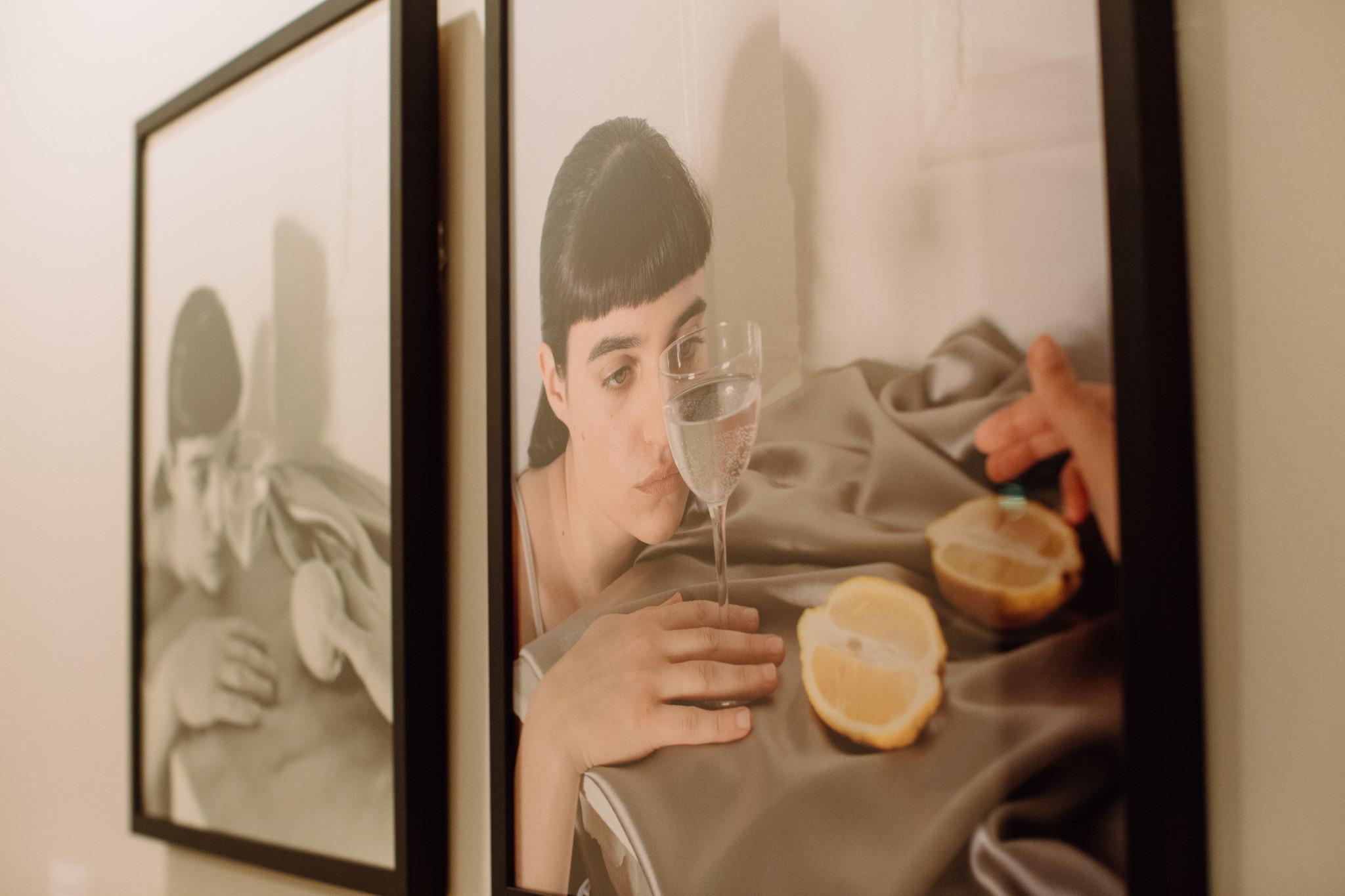 """""""Lemon View Through Water Glass (Monochrome)"""""""