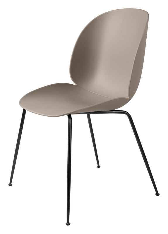 Gubi Beetle Dining Chair - Un-Upholstered, Conic Black Matt Base